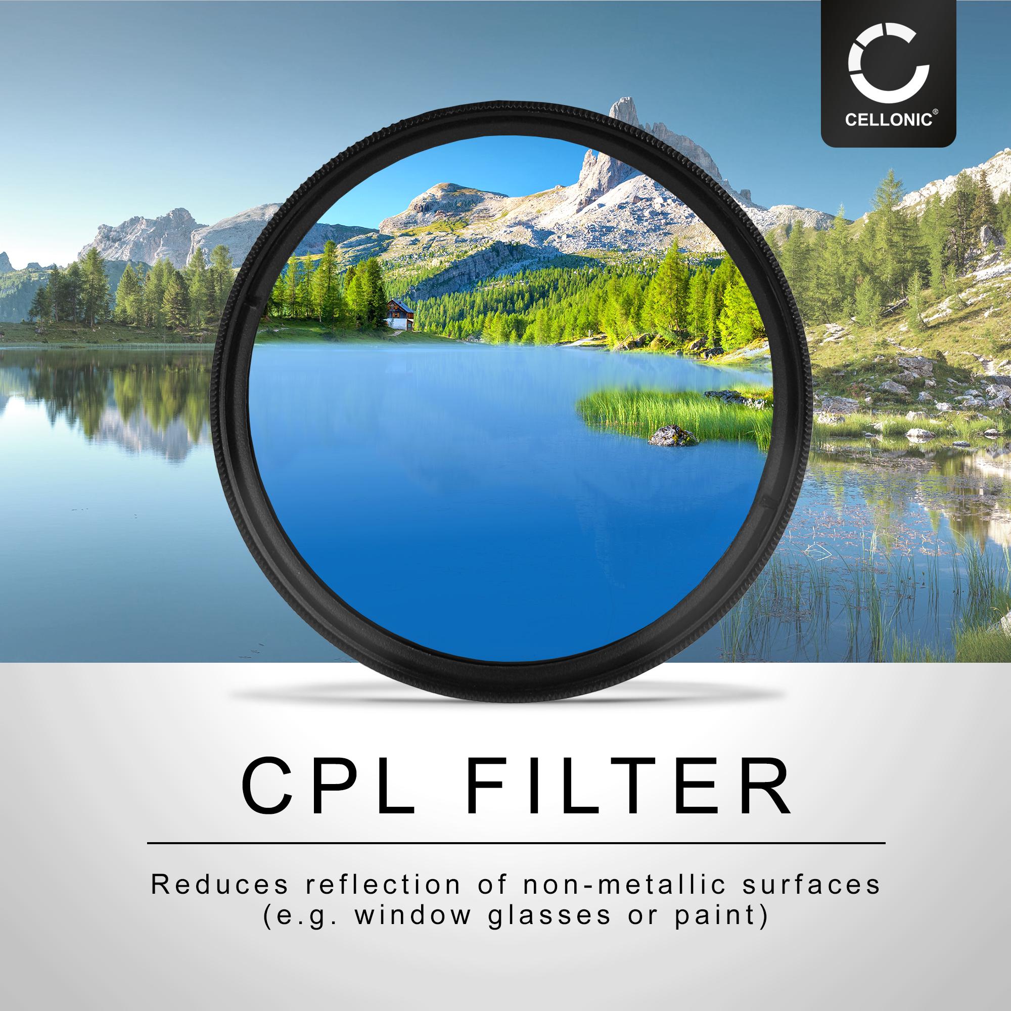 Polarizador CPL 72mm para Tamron sp af 17-50mm f//2.8 XR di II VC ld ASPH if