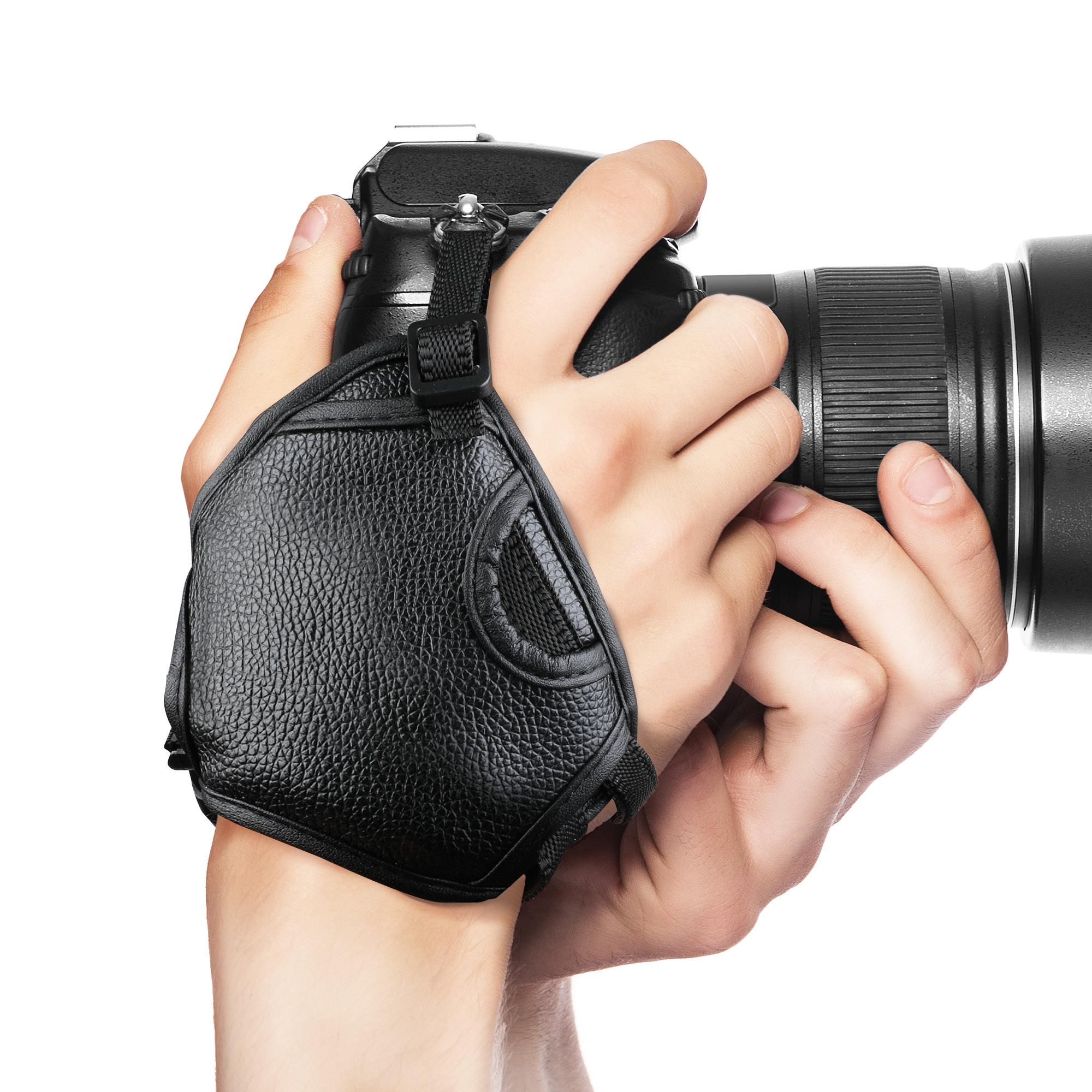 Dragonne pour Panasonic HC-V707 Nikon D300S Cuir PU Bracelet Courroie Main